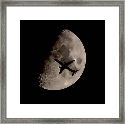 Under The Moons Shadow Framed Print