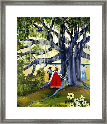 Framed Print featuring the painting Under The Mossy Oak by Diane Britton Dunham