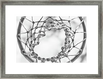 Under The Net Framed Print by Karol Livote