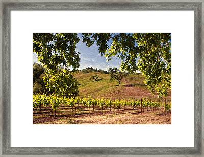 Under The Oak Framed Print by John K Woodruff