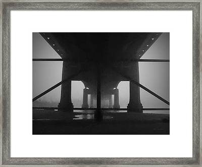 Under The Old Sakonnet River Bridge Framed Print