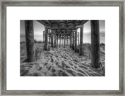 Under The Overlook In Sleeping Bear Dunes Black And White Framed Print