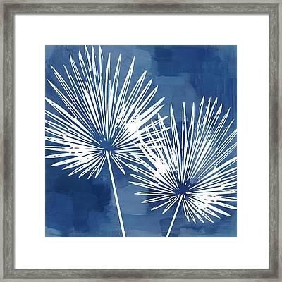 Under The Palms- Art By Linda Woods Framed Print