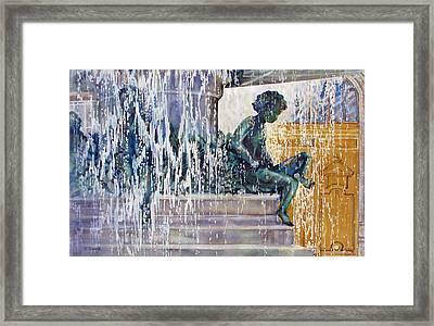 Under-the-parisian-sun Framed Print by Nancy Newman