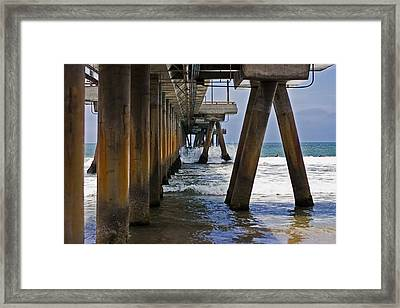 Framed Print featuring the photograph Under The Pier by Ron Dubin