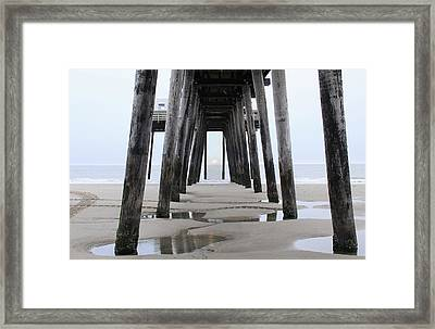 Framed Print featuring the digital art Under The Pier by Sharon Batdorf
