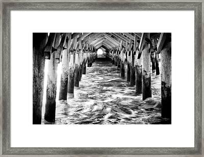 Pier - Myrtle Beach South Carolina Framed Print