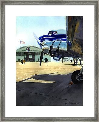 Framed Print featuring the painting Under The Plane's Wing by Sergey Zhiboedov