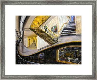 Under The Platform Framed Print by Arthur Robins