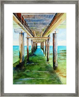 Under The Playa Paraiso Pier Framed Print