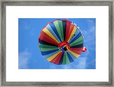 Under The Rainbow - Hot Air Balloon Framed Print by Nikolyn McDonald