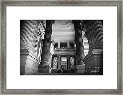 Framed Print featuring the photograph Under The Scaffolding Of The Palace Of Justice - Brussels by RicardMN Photography