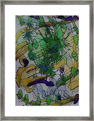 Under The Scope Framed Print by Betty Lu Aldridge