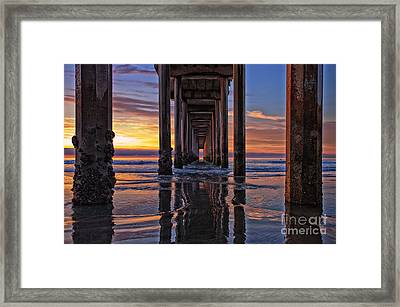 Under The Scripps Pier Framed Print