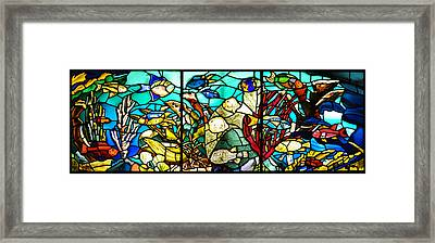 Under The Sea - Stained Glass Framed Print by Bill Cannon