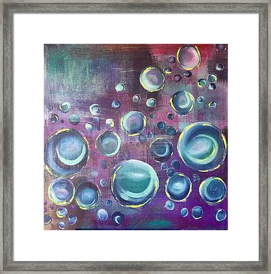 Framed Print featuring the painting Under The Sea #3 by Mary Rimmell