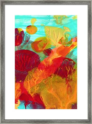 Under The Sea Abstract 6 Framed Print by Amy Vangsgard