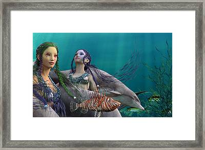 Under The Sea  Framed Print by Betsy Knapp