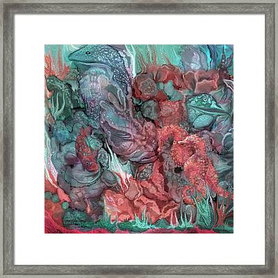 Under The Sea Framed Print by Carol Cavalaris