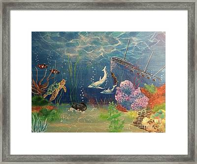 Framed Print featuring the painting Under The Sea by Denise Tomasura