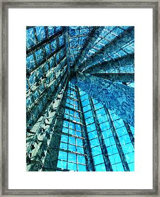 Under The Sea Dwelling Abstract Framed Print