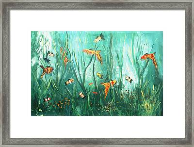under the sea I Framed Print by Miroslaw  Chelchowski