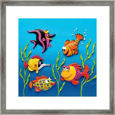 Under The Sea Square Framed Print by Amy Vangsgard