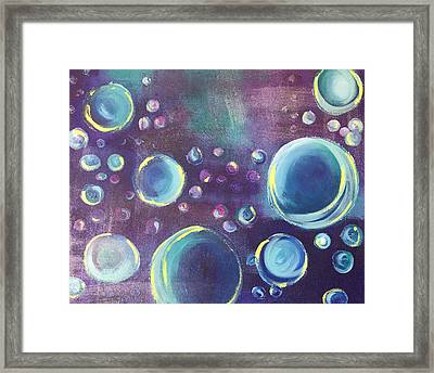 Framed Print featuring the painting Under The Sea  #2 by Mary Rimmell