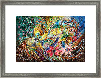 Under The Shadow Of Date Tree Framed Print