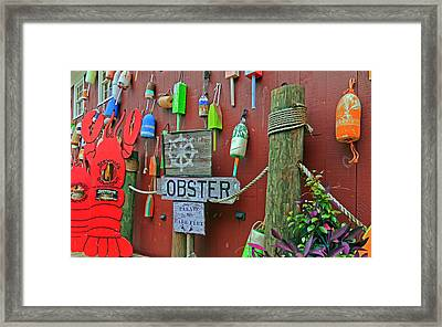 Under The Ship's Wheel  Framed Print by Betsy Knapp