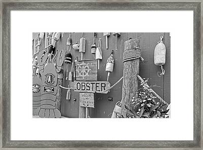 Under The Ship's Wheel Bw Framed Print
