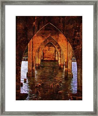 Framed Print featuring the photograph Under The Siuslaw River Bridge by Thom Zehrfeld