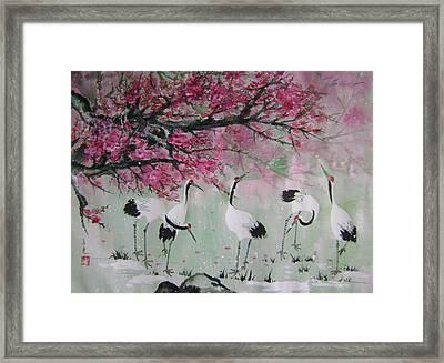Under The Snow Plums 2 Framed Print by Lian Zhen
