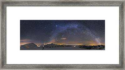 Under The Starbow Framed Print by Dr. Nicholas Roemmelt