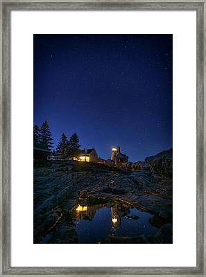 Under The Stars At Pemaquid Point Framed Print by Rick Berk