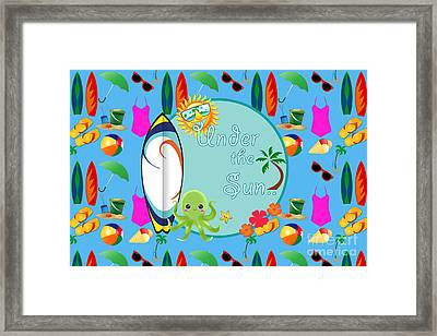 Under The Sun Framed Print by Naviblue
