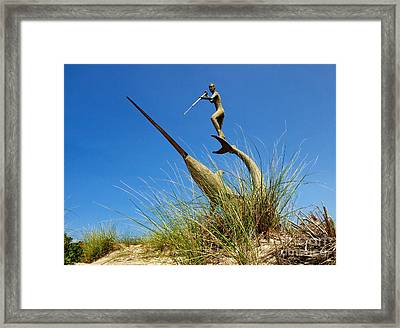 Framed Print featuring the photograph Under The Swordfish Harpooner Of Menemsha by Mark Miller