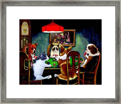 Under The Table 2 Framed Print
