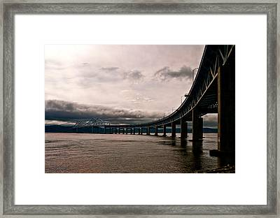 Under The Tappan Zee Framed Print