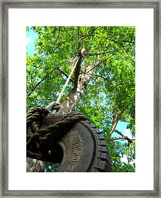 Under The Tire Swing Framed Print by Ken Day