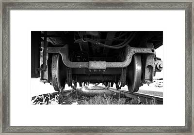 Under The Train Framed Print