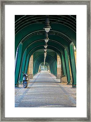 Under The Trains Framed Print by Peteris Vaivars