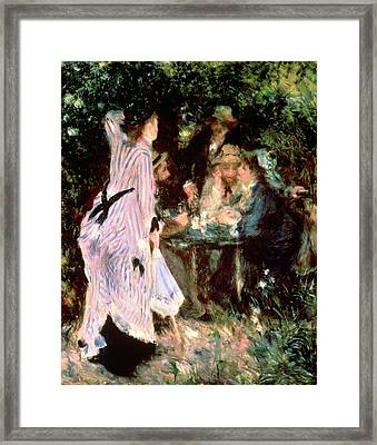 Under The Trees Of The Moulin De La Galette Framed Print