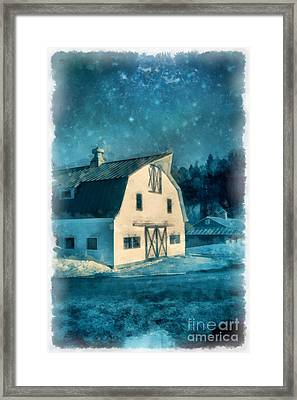 Under The Vermont Moonlight Watercolor Framed Print by Edward Fielding