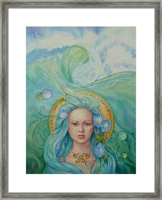 Under The Waves Framed Print by Victoria Lisi