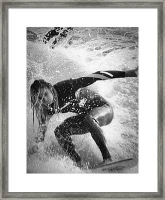 Under The Wedge 3 Framed Print