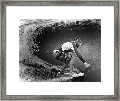 Under The Wedge 5 Framed Print