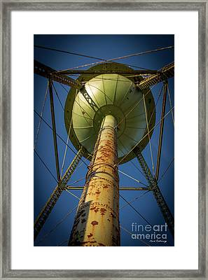 Under The Weight Mary Leila Cotton Mill Water Tower Art Framed Print