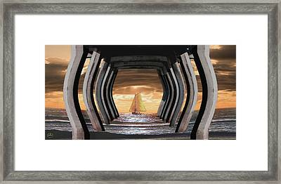 Under The Wharf Framed Print by Ron Chambers