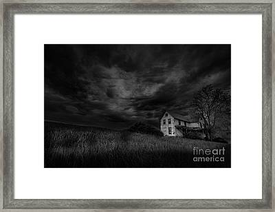 Under Threatening Skies Framed Print